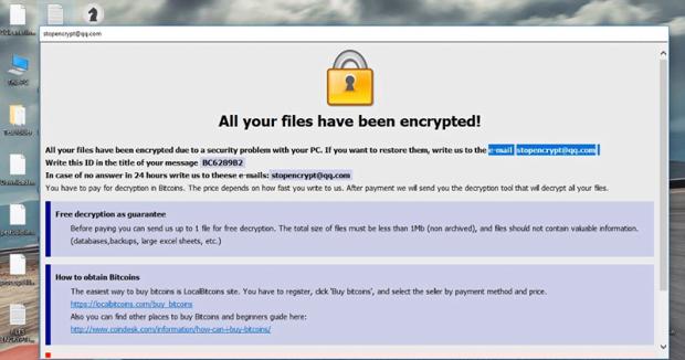 Catatan tebusan HTA oleh .adobe ransomware