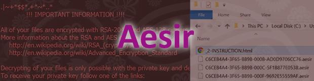 Cara menghapus Zzzzz (Aesir) virus dan mendekripsi file .aesir/.zzzzz