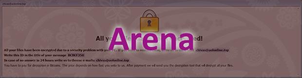Menghapus ransomware Arena: mendekripsi file virus .arena