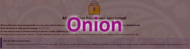 Virus ransomware Onion: bagaimana cara dekripsi ekstensi file .onion